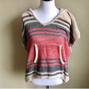 Anthropology Paper Crane sweater hooded poncho